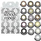シークレットキャンディーマジック(度なし 2枚入) 【カラー】NO.5 ブラック 【PWR】±0.00