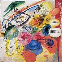 手書き-キャンバスの油絵 - 美術大学の先生直筆 - Black Lines Schwarze Striche Wassily Kandinsky 絵画 洋画 複製画 ウォールアートデコレーション -サイズ05