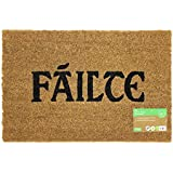 Failte Design Latex Backed Coir Entrance Door Mat, Brown, 40 x 60 cm