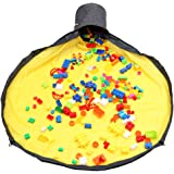 BENECOM(ベネカン) おもちゃ 収納マット お片付け簡単 散らかり防止 持ち運び 洗濯可能 子供 ブロック (イエロー, 1.5m)