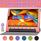 SP-MART(オリジナル)(タッチペン+液晶フィルム進呈)+Lenovo YOGA Tab 3 8ケース&Lenovo YOGA Tab 3 Pro 10ケース機種選択【全6色】YOGA..