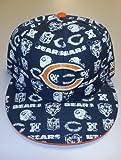 Chicago BearsマルチロゴFitted FLST Billリーボック帽子サイズ7–tc71K
