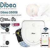 [1 Year Local Warranty] FREE ADDITIONAL HEPA FILTER - Dibea D500-B D-Shape Smart Robotic Vacuum Cleaner + Water Tank + APP +