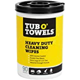 Tub O Towels Heavy-Duty 10 x 12 Size Multi-Surface Cleaning Wipes 90 Count Per Canister