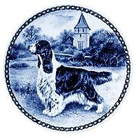 デンマーク製 ドッグ・プレート (犬の絵皿) 直輸入! English Springer Spaniel / イングリッシュ・スプリンガー・スパニエル