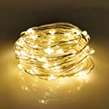 LIIDA Solar Powered String Lights, 100 LED Copper Wire Lights, Starry String Lights, Indoor/Outdoor Waterproof IP65 Solar Dec