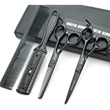 Hair Cutting Scissors Set with Combs Lether Scissors Case,Hair cutting shears Hair Thinning shears For Personal and Professio