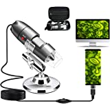 USB Microscope Camera 40X to 1000X, Cainda Digital Microscope with Metal Stand & Carrying Case Compatible with Android Window