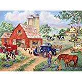Bits and Pieces - 300 Large Piece Jigsaw Puzzle for Adults - John's Farm Horses on the Farm - by Artist Kay Lamb Shannon - 300 pc Jigsaw [Floral] [並行輸入品]