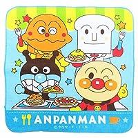 アンパンマン ミニタオル ハンカチタオル ハンドタオル 保育園 幼稚園 pz-brynst03 ブルー