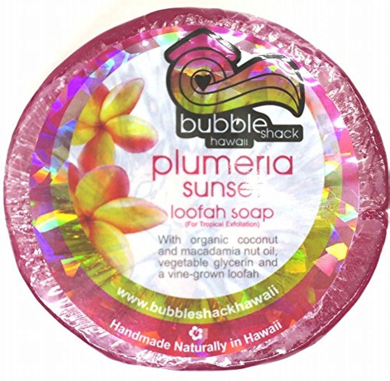 上昇ドラム素子ハワイアン雑貨/ハワイ 雑貨【バブルシャック】Bubble Shack Hawaii ルーファーソープ(プルメリア) 【お土産】