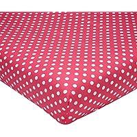 Sadie & Scout - Polka Dot Crib Sheet Crib Sheet by Crown Crafts