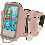 iGadgitz Apple iPod Nano 第7世代 16GB 用反射材 滑り止め付きネオプレーン アームバンド  ピンク  スポーツ ジム ジョギングに最適 [並行輸入品]