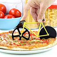 Bicycle Pizza Cutter Dual Stainless Steel Bike Pizza Cutter
