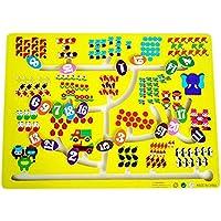 子供の木製玩具就学前教育迷路ボードゲーム家族ゲーム - ナンバー