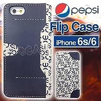 グルマンディーズ PEPSI iPhone6s/6対応 フリップケース ネイビー PPS-03A