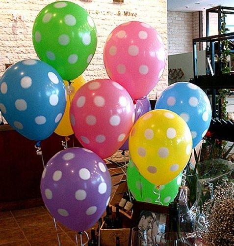 [해외]귀여운 파스텔 컬러의 도트 무늬 풍선 5 색 20 코 셋트 파티 등에 물방울 풍선/Cute pastel-colored dot pattern balloons 5 colors 20 cosettes Party etc. with a polka ballon