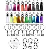 F Fityle 100 Pcs Acrylic Keychains Blanks Tassels Key Ring Pendant Bulk DIY Handiwork