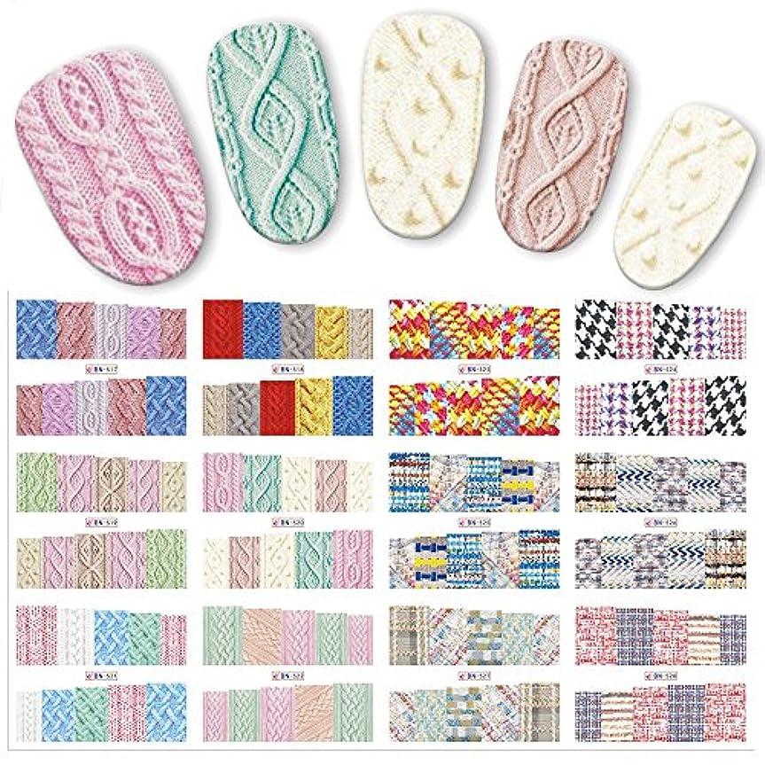 印象的差し引く何十人もSUKTI&XIAO ネイルステッカー 12ピース/セット美容セーター布パターンステッカー水転写ネイルアートステッカー爪デカールカラフルなラベル