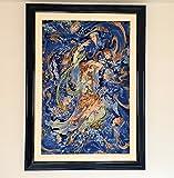 絵画絨毯 アリナザブ工房 タブリーズ ペルシャカーペット