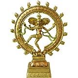 AliKiki Hindu Nataraja Shiva Dancing Statue – Large India Lord God Siva Mahadev in Dance Mudra for Home Temple Mandir – India