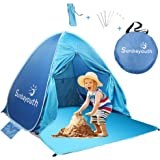Beach Tent, Sunba Youth Anti UV Beach Shade, Instant Portable Tent Sun Shelter, Pop Up Baby Beach Tent, for 2-3 Person (Blue)