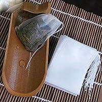 Lautechco 100 個 不織布圧送ラインティーバッグティーバッグ袋を抽出空のティーバッグ