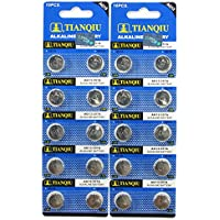20 Tianqiu AG13 A76 LR44 357 L1154 Button Cell 1.5V Battery Long Shelf Life 0% Mercury (Expire Date Marked)