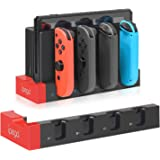 Charger for Nintendo Switch Joy-con, Charger Station Stand for Joy-Cons Accessories with LED Indication, Support to Charge 1-