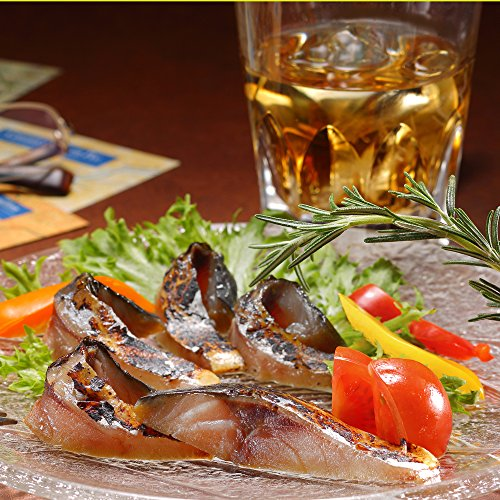 ディメール 八戸前沖さば 鯖の冷燻 5枚パック 半身1枚約110g 表面は香ばしく、中はしっとりジューシー生ハム食感