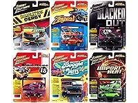 ジョニーライトニング Street Freaks 2018 Release 3 Set B 6 Cars 1/64 Diecast Models Johnny Lightning JLSF009B