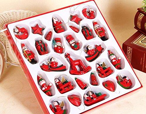 JapaNice 木 の オーナメント クリスマス 用 かわいい オシャレ クリスマスツリー に飾ろう (27ピース)
