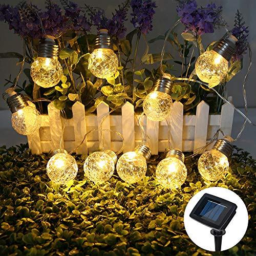 LEDストリングライト ソーラーLEDイルミネーションライト...