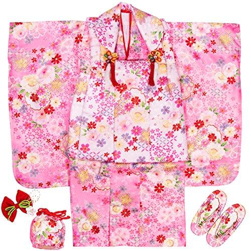 (キョウエツ) KYOETSU 七五三 3歳 着物 女の子 友禅 被布セット フルセット お祝い着