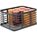 mDesign Modern Decor Metal Wire Food Organizer Storage Bin Basket for Kitchen Cabinets, Pantry, Bathroom, Laundry Room, Close
