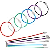 Uniclife 20 Pack Wire Keychain Cable 4 Inch Stainless Steel Key Ring Loop for Outdoor Hiking Luggage Tags