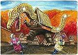 キャンバスアート ご当地怪獣 20 デデコデン 富山南砺市 P3号 273x190mm