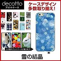iPhoneX 専用スマホカバー 【 雪の結晶 柄 】 [クリア(透明)ケース]