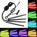 MiCarBa LEDテープライト RGB テープライト 車内装飾用 USB式 高輝度 高品質 フットランプ 足下照明 音に反応 車雰囲気ライト ledテープ 車内装飾用イルミネーションライト (シガー式 Bluetooth)