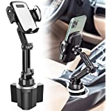 Car Cup Holder Phone Mount, CTYBB Cup Holder Cradle Car Mount with Adjustable Neck for Cell Phones iPhone 11 Pro/iPhone 11/11