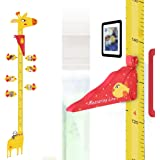 UCMD Removable Giraffe Height Growth Chart,3D Height Measuring Ruler,Children's Room Baby Nursery Decoration Wall Sticker (RE