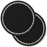 Universal Car Bling Cup Holder Insert Coaster Car Interior Accessories 7 cm(2.75 inch) Silicone Anti Slip Crystal Rhinestone