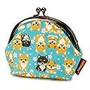 ペットラバーズ HappyFabric 3.8寸 がま口 ポーチ GS-118B 柴犬 Shiba Dog 空色