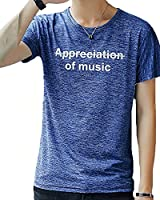 Gobuye Tシャツ メンズ 半袖 速乾性 tシャツ メンズ 薄手 軽い 柔らかい 吸汗速乾 汗染み防止 メンズ tシャツ 夏服 カジュアル カットソー 3006(ブルー, XL)