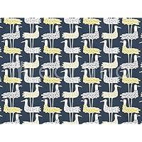 ハーフカットクロス KLIPPAN(クリッパン) SHORE BIRDS(ショア・バーズ) ブルー 約70cm×50cm