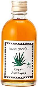 オーガニック アガベシロップ ピュア (有機 化学調味料無添加 砂糖不使用 100%天然 非加熱 ブラウンシュガーファースト)