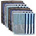 ハンカチタオル メンズ ハンドタオル ビジネス セット ギフト 8枚 (trousseauの8枚セット)