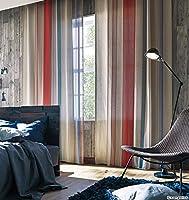 サンゲツ ビビットなカラーで構成したストライプ柄 カーテン2倍ヒダ SC3692 幅:100cm ×丈:130cm (2枚組)オーダーカーテン