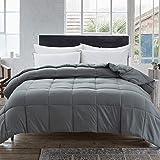 Cosybay Down Alternative Comforter- Grey Corner Duvet Tabs- Lightweight All Season Duvet Insert-Stand Alone Comforter – Cal-K