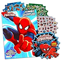 Marvel Spiderman Colouring Book with Over 270 Spiderman Stickers & Bonus Superhero Sticker